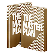 Buy Nuuna Master Plan Notebook, Gold Online at johnlewis.com