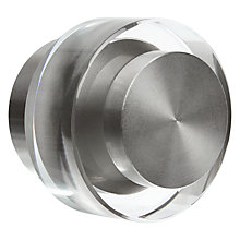 Buy John Lewis Stainless Steel Crystal Disk Finial, Dia.30mm Online at johnlewis.com