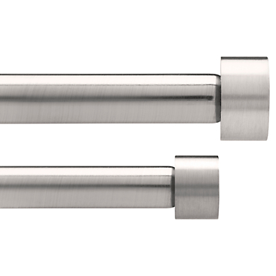Umbra Adjustable Double Curtain Pole Kit, Nickel, L91-183cm x Dia.31cm