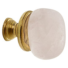 Buy John Lewis Stone Cupboard Knob, Pink Online at johnlewis.com