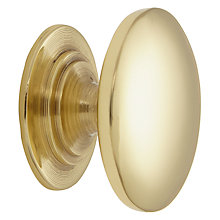 Buy John Lewis Cupboard Knob, Dia.25mm, Polished Brass Online at johnlewis.com