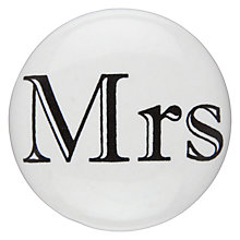 Buy John Lewis Mrs Ceramic Cupboard Knob Online at johnlewis.com