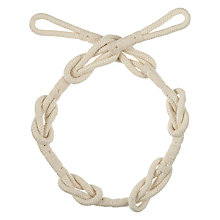 Buy John Lewis Reef Knot Tieback, Cream Online at johnlewis.com
