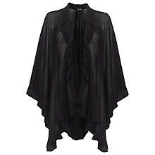Buy Phase Eight Anika Frill Wrap, Black Online at johnlewis.com