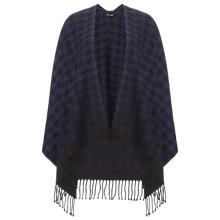 Buy Phase Eight Lexie Dogtooth Cape, Navy/Black Online at johnlewis.com