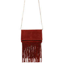 Buy Karen Millen Fringe Brompton Bag, Brown Online at johnlewis.com