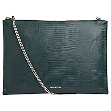 Buy Whistles Lizard Chain Pouch Bag, Dark Green Online at johnlewis.com