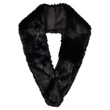 Buy Phase Eight Blake Faux Fur Collar, Black Online at johnlewis.com