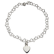 Buy John Lewis Silver Heart Bracelet Online at johnlewis.com