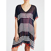 Buy Seafolly Gili Island Kaftan, Navy/White Online at johnlewis.com