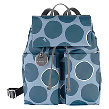 Buy Radley Spot On Fabric Backpack, Green Online at johnlewis.com