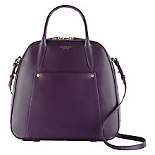 Buy Radley Highbury Barn Leather Multiway Bag, Purple Online at johnlewis.com
