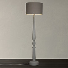 Buy John Lewis Clarence Floor Lamp, Washed Grey Online at johnlewis.com