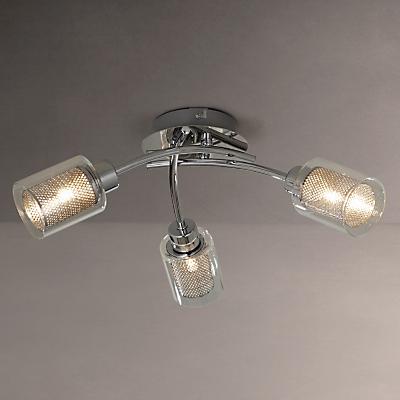 John Lewis Sierra 3 Light Semi-Flush Ceiling Light, Chrome