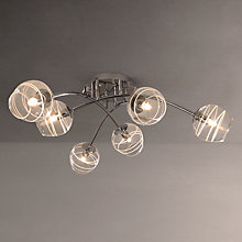 Buy John Lewis Spiral Six Bulb Ceiling Light, Chrome Online at johnlewis.com