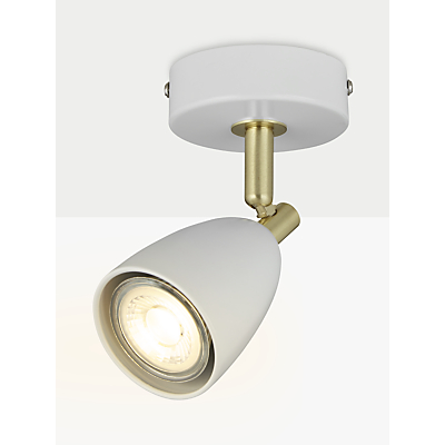 John Lewis Sasha GU10 LED Spotlight, Ivory/Brass