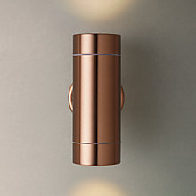 Buy John Lewis Sabrebeam Outdoor Double Wall Light with 2 x 3.5W GU10 LED Bulbs Online at johnlewis.com