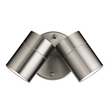 Buy John Lewis Zola Outdoor LED Twin Spotlight, Steel Online at johnlewis.com