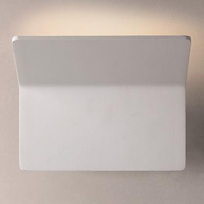 John Lewis Fold LED Wash Wall Light, White