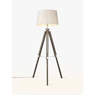 John Lewis Jacques Tripod Floor Lamp, Grey