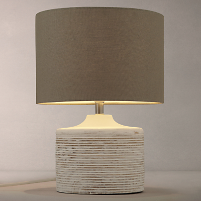 John Lewis Ira Ribbed Wooden Table Lamp