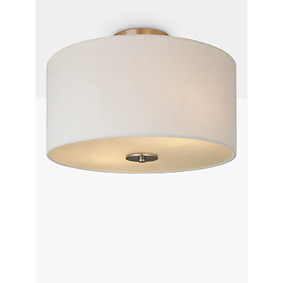 John Lewis Jamieson Semi-Flush Ceiling Light, White