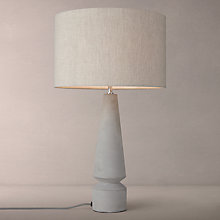 Buy John Lewis Monument Tall Concrete Table Lamp, Grey Online at johnlewis.com