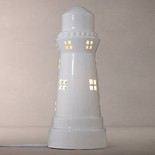 Buy John Lewis Lighthouse Table Lamp, White Online at johnlewis.com