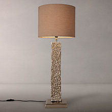 Buy John Lewis Margot Sculptured Slim Rectangle Table Lamp, Nickel Online at johnlewis.com