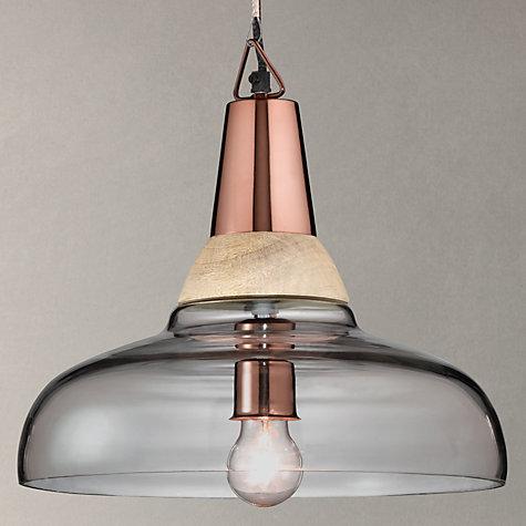 Buy John Lewis Nalina Pendant Light Clear Wood
