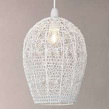Buy John Lewis Floret Mesh Pendent Shade, White Online at johnlewis.com
