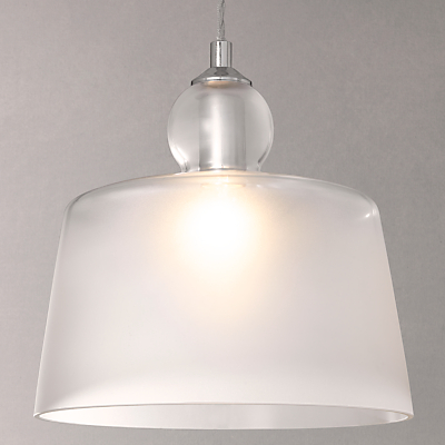 John Lewis Frost Pendant Ceiling Light, White