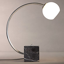 Buy John Lewis Hotel Finlay Marble and Chrome Table Lamp Online at johnlewis.com