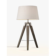 Buy John Lewis Jacques Tripod Table Lamp, Grey Online at johnlewis.com