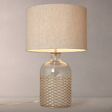 Buy John Lewis Croft Kingsley Glass and Wire Table Lamp Online at johnlewis.com