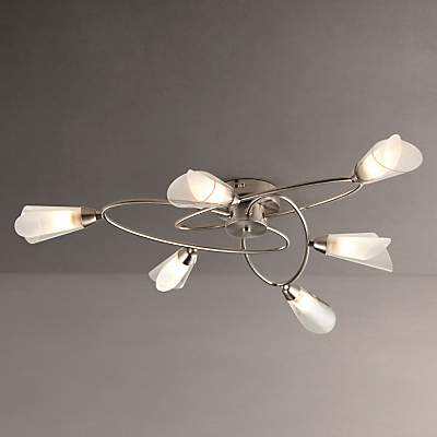 John Lewis May Ceiling Light, 6 Arm