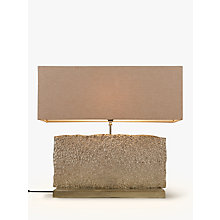 Buy John Lewis Margot Wide Rectangle Table Lamp, Nickel Online at johnlewis.com