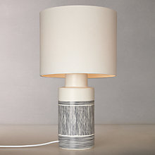 Buy John Lewis Polperro Table Lamp, White/Blue Online at johnlewis.com