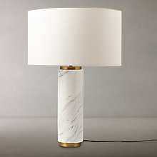 Buy west elm Pillar Table Lamp, Marble Online at johnlewis.com