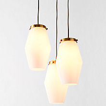 Buy west elm Mid Century Opal Glass Pendant Ceiling Light, White Online at johnlewis.com
