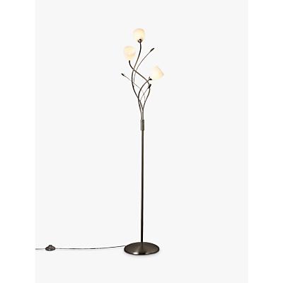 John Lewis Amara Floor Lamp, Satin Nickel