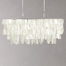 Buy west elm Large Rectangle Hanging Capiz Chandelier, White Online at johnlewis.com