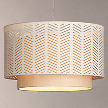 Buy John Lewis Breeze Fabric Dual Shade Pendant, Natural Online at johnlewis.com