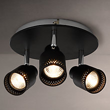 Buy John Lewis Byron GU10 LED Spotlight Plate, 3 Light, Black Online at johnlewis.com