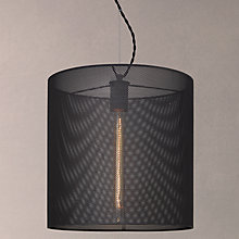 Buy John Lewis Blake Steel Mesh Pendant, Grey Online at johnlewis.com