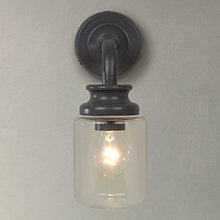 Buy John Lewis Richmond Outdoor Jar Wall Light, Grey Online at johnlewis.com