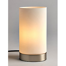 Buy John Lewis Danny Oval Touch Table Lamp, Satin Nickel Online at johnlewis.com