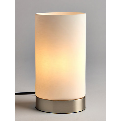 Buy John Lewis Danny Oval Touch Table Lamp, Satin Nickel