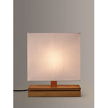 Buy John Lewis Alma Oak USB Port Table Lamp, White Online at johnlewis.com