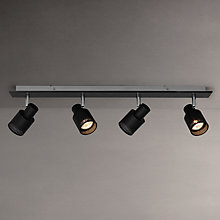 Buy John Lewis Byron GU10 LED Spotlight Bar, 4 Light, Black Online at johnlewis.com